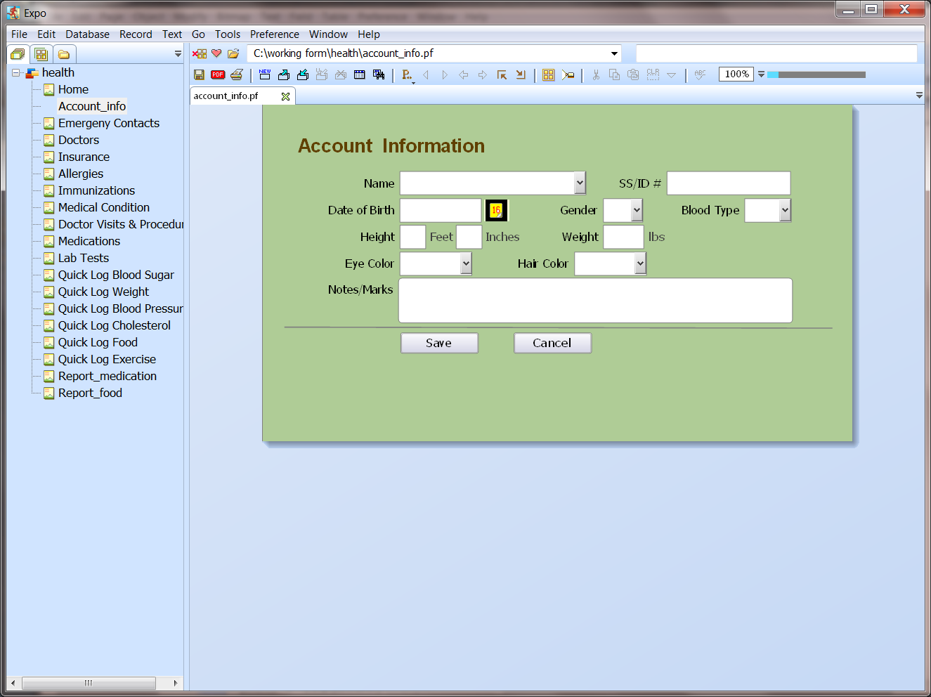 Create Forms, Applications and Reports